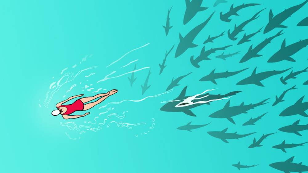 Swimming while on period will attract sharks