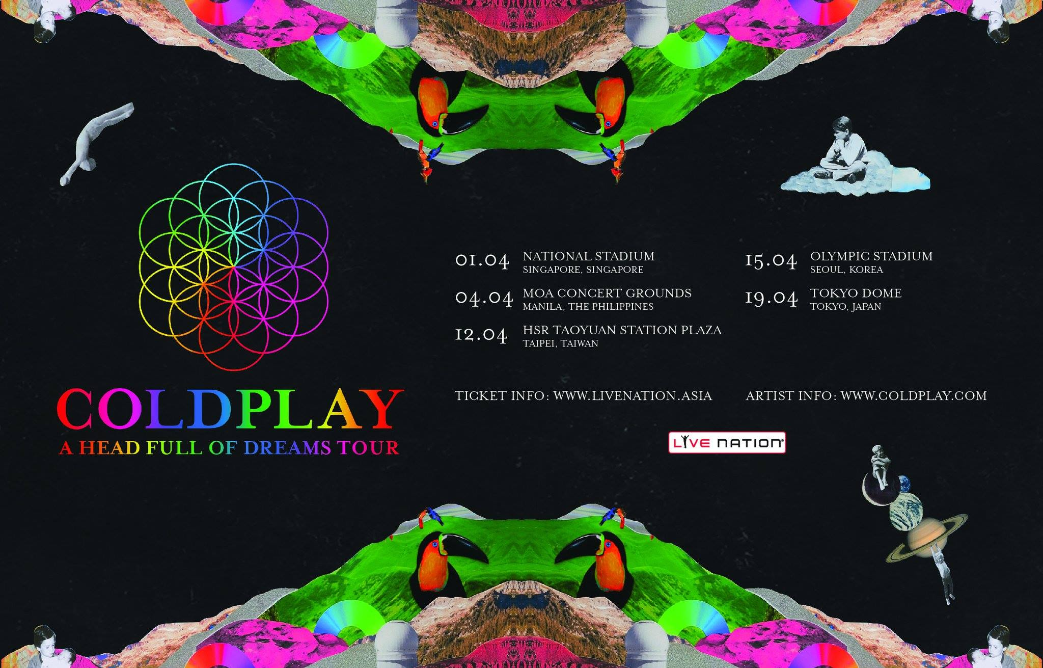 Coldplay A Head Full of Dreams Tour Asia April 2017